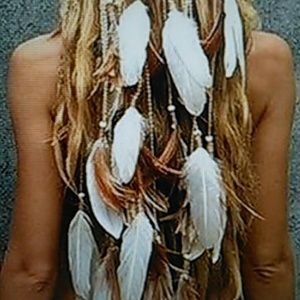NWT Crown of Feathers Boho Festival Head Dress